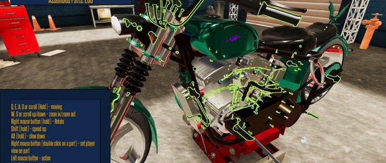 Motorbike Garage Mechanic Simulator Review