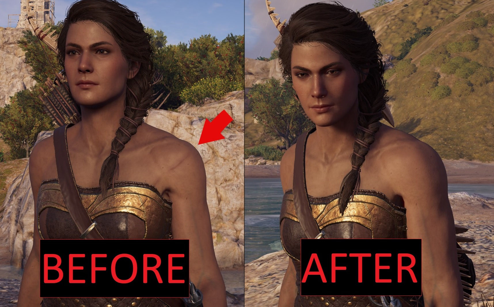 Kassandra S Body Scars Removed Mod Assassin S Creed Gamewatcher