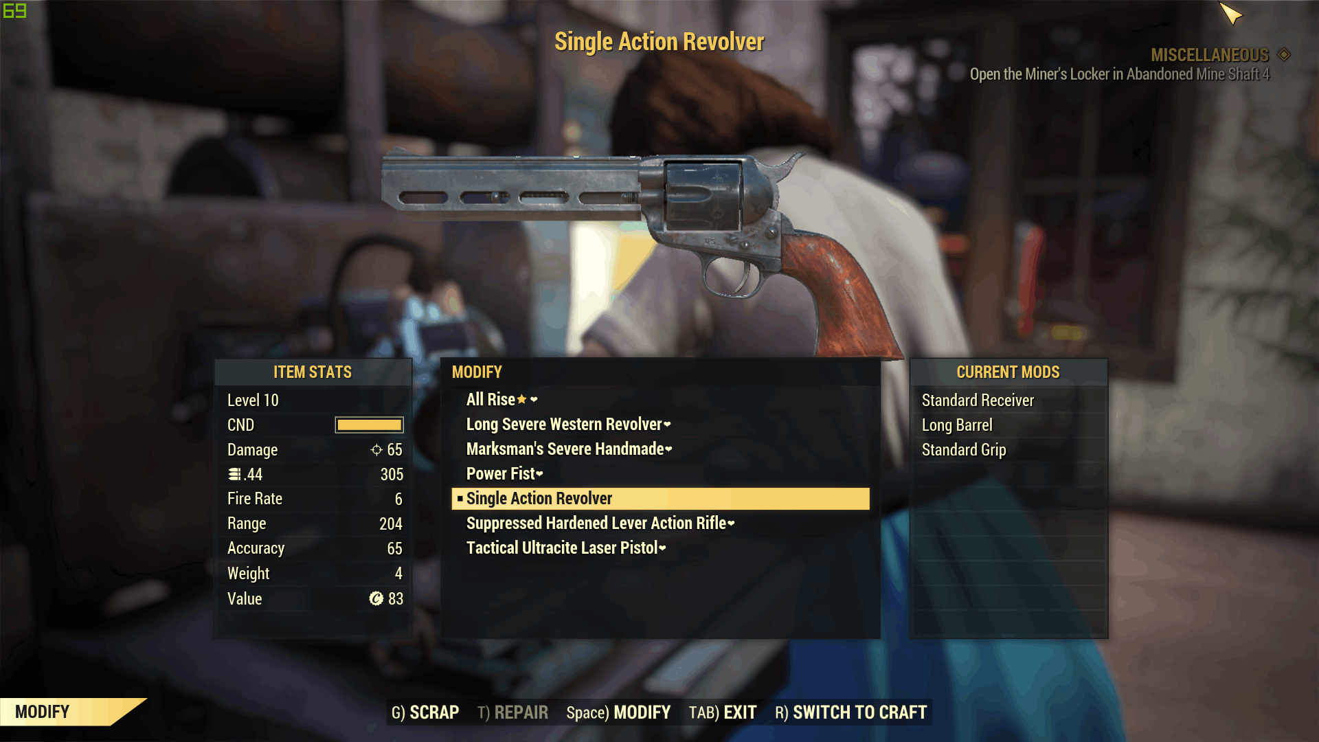 Bull Barrel Replacement for Revolvers Mod - Fallout 76 Mods