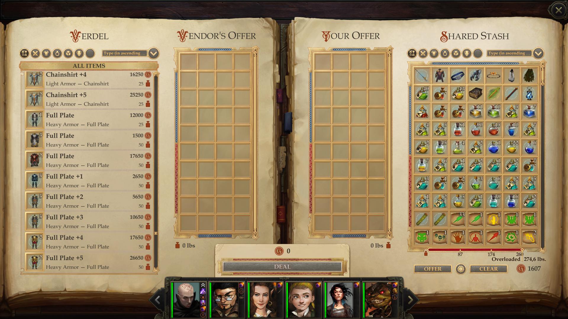 Vendor Progression Mod - Pathfinder: Kingmaker Mods