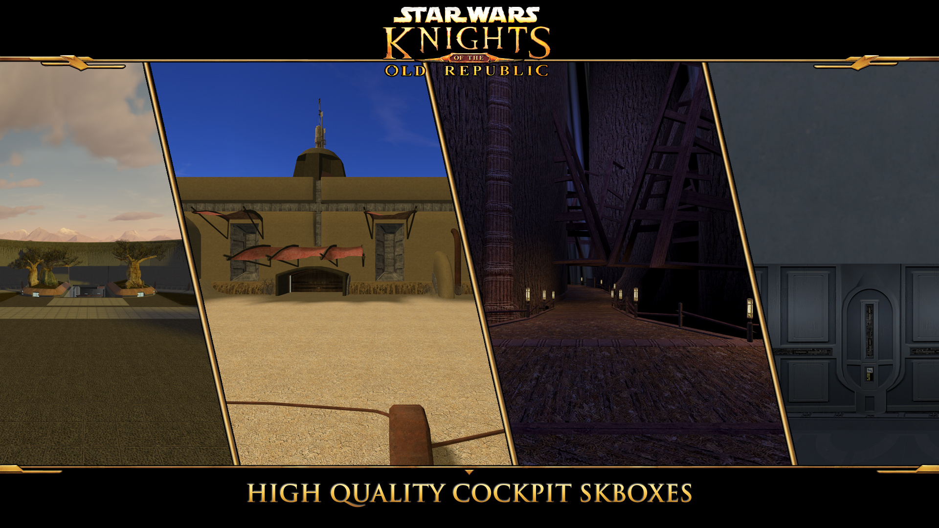 High Quality Cockpit Skyboxes - Star Wars: Knights of the