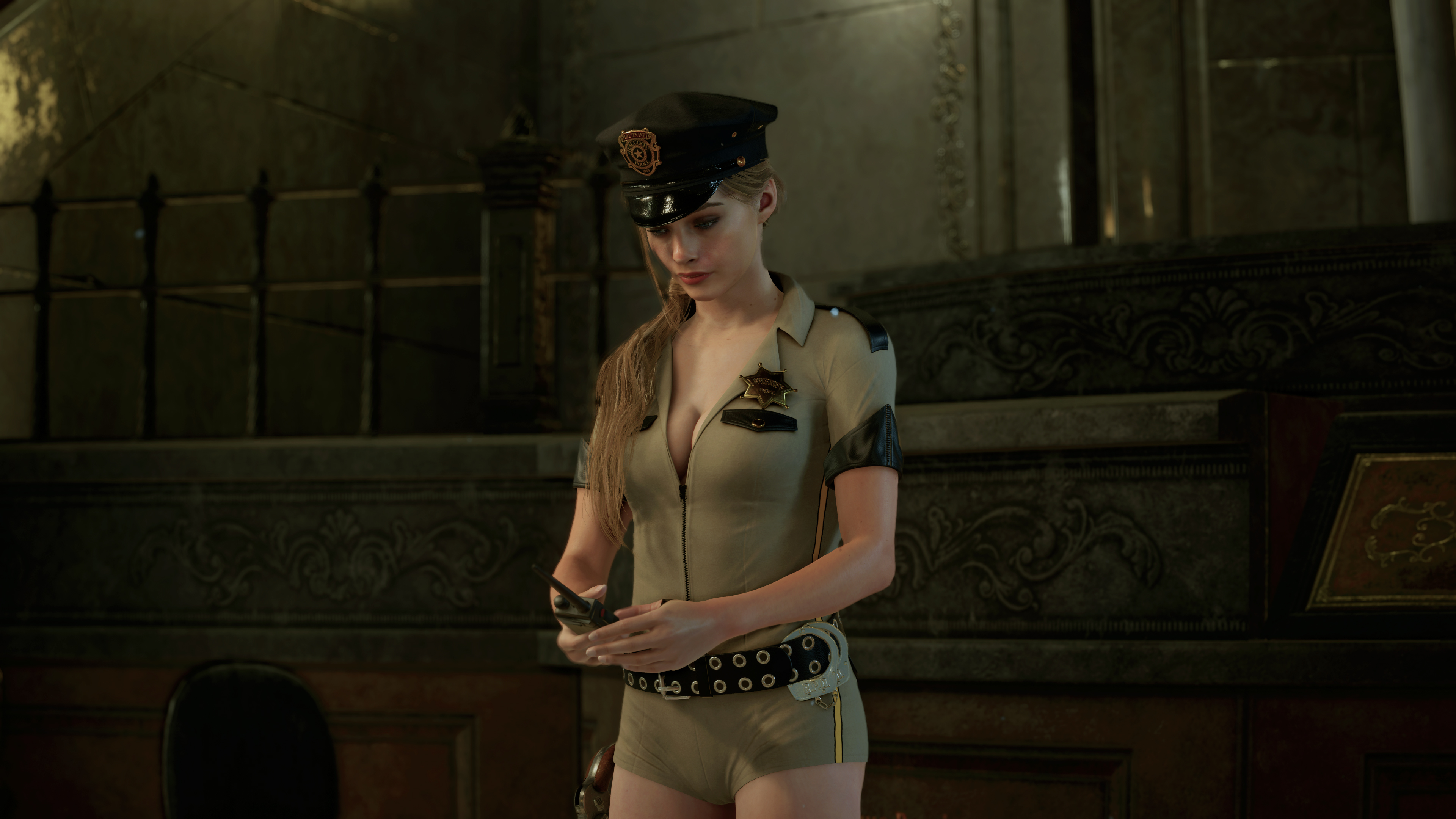 Claire Sexy Sheriff Outfit Mod - Resident Evil 2 Remake Mods