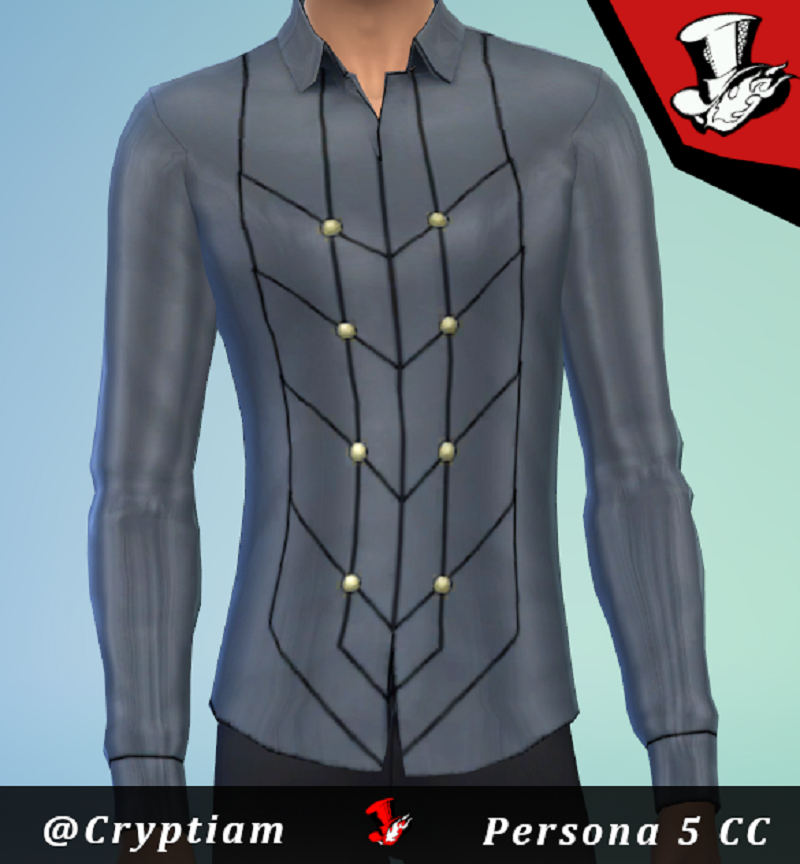 Persona 5 CC- Joker and Crow Tops Mod - The Sims 4 Mods